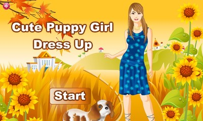 Cute Puppy Girl DressUp