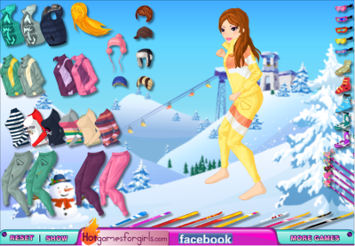 Fashion Skiing Girl Dress Up
